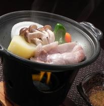 肉の陶板焼き