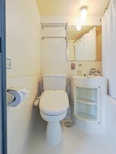 【禁煙】トリプルルーム(2段ベッドタイプ)1〜3名様 トイレ