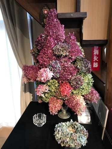 秋色紫陽花ドライフラワー