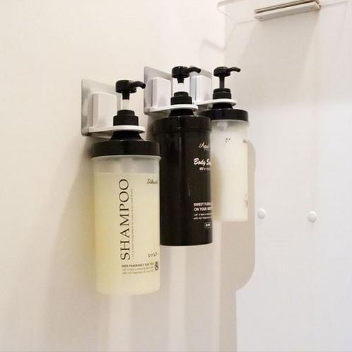 シャワールームにはシャンプー&ボディーソープを完備♪