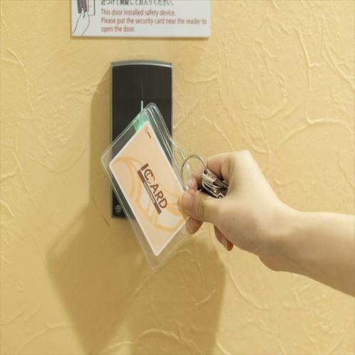 IC CARDでセキュリティも万全♪ ※女性専用フロア入口