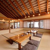 【*龍馬の湯】1Fの休憩スペース。畳でお寛ぎください。