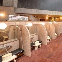 【*龍馬の湯】男湯。洗い場はたくさんございますので安心。