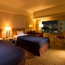 【プリファードデラックスツイン】36平米・14-16階・六甲山側。高層階からの景色をお愉しみいただけ