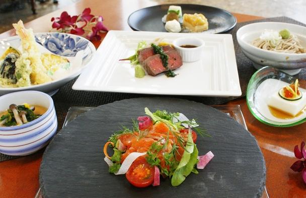 【2食付】 県産食材を生かした舌鼓御膳 信州サーモンや野沢菜・ポン酢で召し上がるメインデッシュを堪能