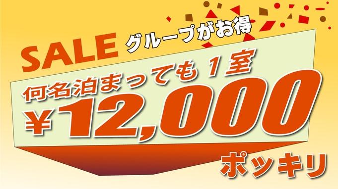 【料金定額】 グループがお得!1部屋 12,000円 ポッキリ 【素泊り】