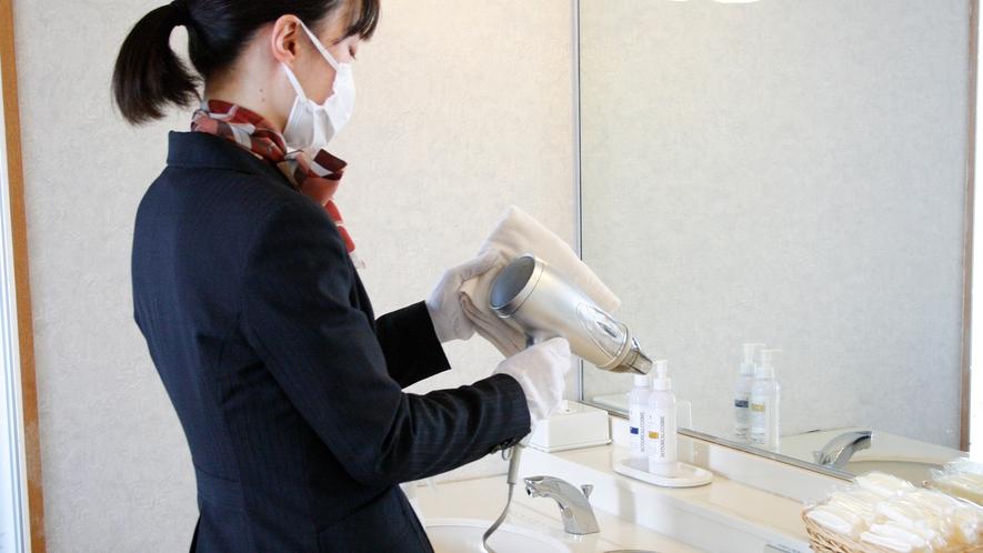 新型コロナウィルス感染症対策 展望浴場の定期消毒