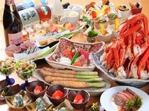 名物!アスパラ1本揚げ&カニ食べ放題!バイキング夕食※画像はイメージです