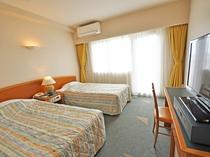 【ツイン】洋室は全室ツインルームですが、1名利用も可能です。