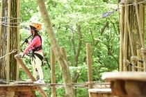 那須の森の空中アスレチック「NOZARU」⑦