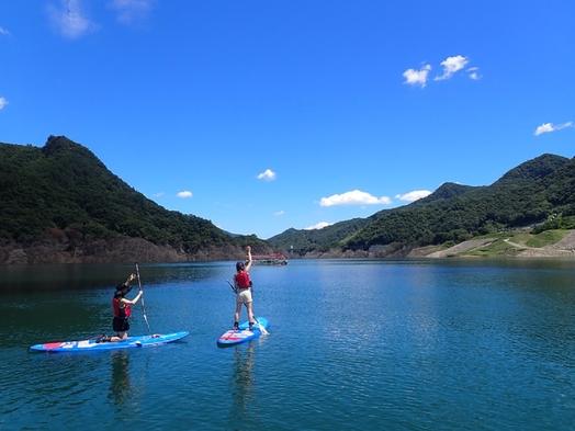 【アクティブプラン】八ッ場あがつま湖へ漕ぎ出そう!湖面ツアー自然体験★選べる3種のリゾートディナー