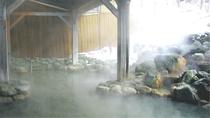 『鬼押温泉』露天風呂 雪景色