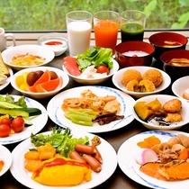 【朝食ブッフェ】身体に優しい高原のモーニングブッフェ 季節によりフェアも実施!!