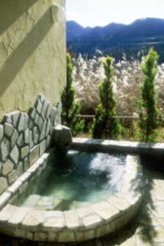 コテージの客室露天風呂