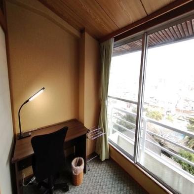 【ビジネスデスク】付き。喫煙室  5泊ご利用でお値引き価格!wi-fi OK 無料朝食付♪
