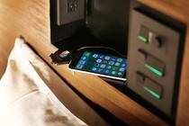 お部屋の携帯充電器