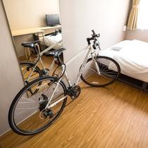 客室に自転車持ち込み可能です