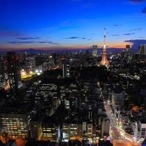 東京のシンボル、東京タワーまでは1駅です。タワービューのお部屋もございます。