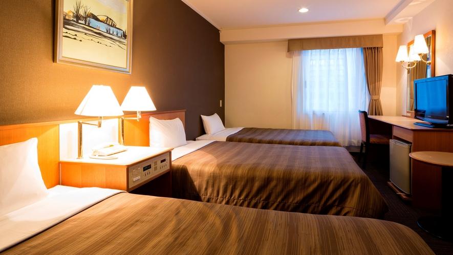 トリプルルーム(21平米ベッド幅110cm)