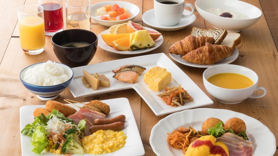 朝食バイキング盛り付け一例