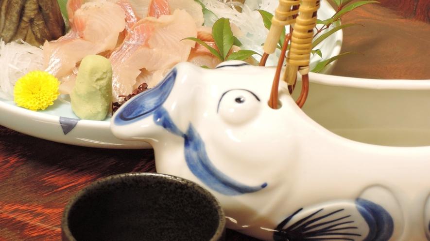 *【夕食一例】川魚の骨酒(新館限定)