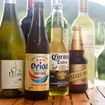 *【ドリンク(有料)】ペリエ、コロナ、オリオン、グラスワイン、泡盛、焼酎、等ご用意しております。