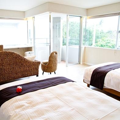 石垣島絶景スポット「野底マーペ」を望むマウンテンビューツインルームにステイ(朝食付き)