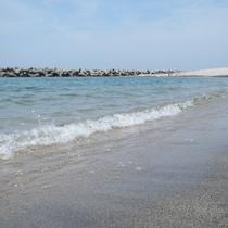 【皆生海水浴場】透明度の高い海です。