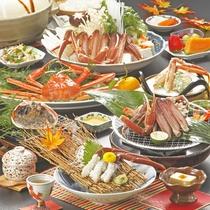【夕食一例】 贅沢に松葉かにを使用した冬ならではの夕食です