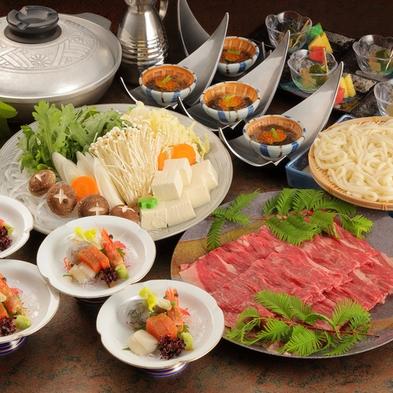 ボリューム満点の柔らかな牛肉とシャキシャキ新鮮野菜のしゃぶしゃぶ鍋【牛しゃぶしゃぶ鍋】