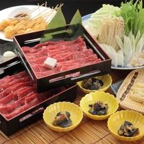 ボリューム満点の柔らかな牛肉と新鮮なシャキシャキ野菜をすき焼きでお召し上がりください。