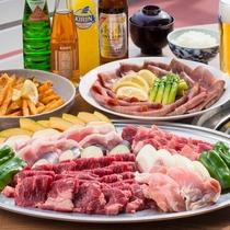お肉好きの方におすすめのボリューム満点のBBQ。