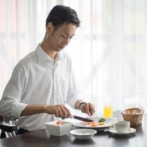 1日の始まりに当ホテル自慢の朝食をどうぞ!