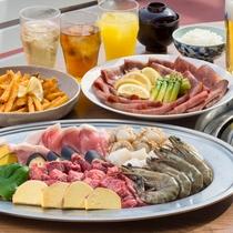 魚介とお肉の両方が楽しめるBBQメニューもございます。