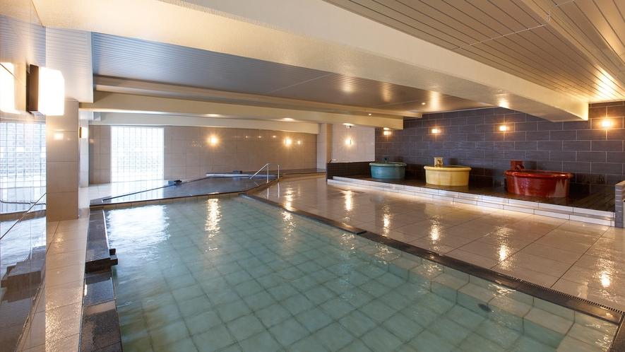 【平成モダン風呂 Relax21】1階大浴場は「大正ロマン風呂 夢乃湯」と男女入替制です。