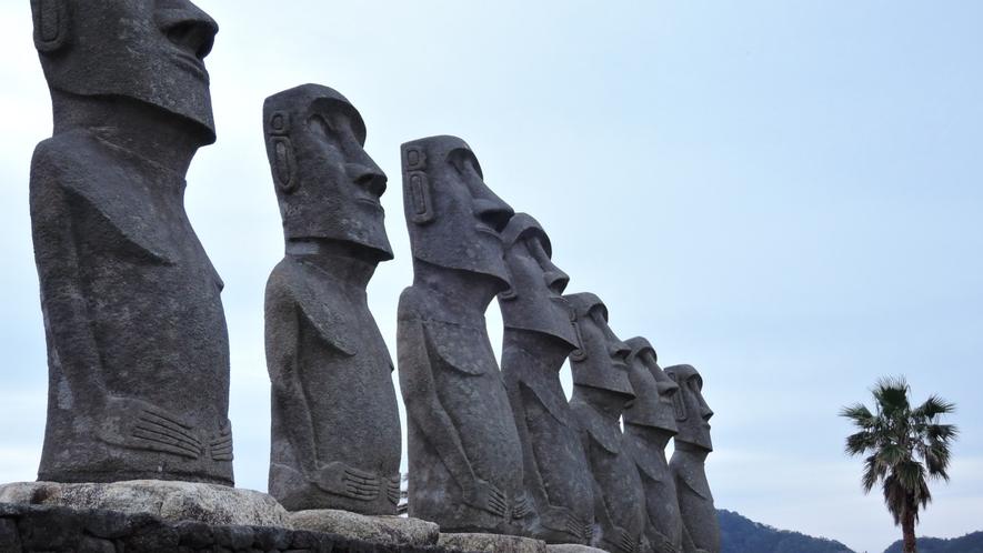 *【サンメッセ日南】イースター島公認のモアイ像
