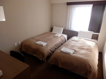 【ツインルーム】110cm幅ベッド2台のツインルームは最上階10階になります♪