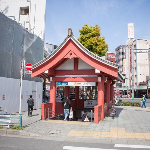 *【アクセス】銀座線浅草駅からは徒歩約10分。観光やお食事をしながらホテルまでお散歩♪