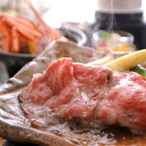 【別注料理】但馬牛の陶板焼き