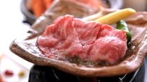 但馬牛の陶板焼き。レイセニット城崎の名物の一つです。