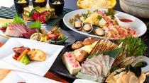 季節に合わせた食材を使用した創作和食をお楽しみください。(4月~10月)