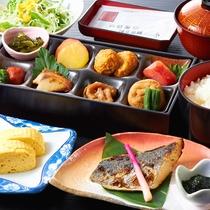 【朝食】但馬産コシヒカリが美味しい和朝食。