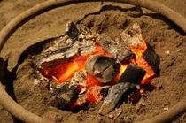 囲炉裏の炭火