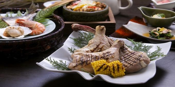 箱根小涌園ユネッサン内「炉端焼き紅葉」の夕食&朝は軽食付プラン