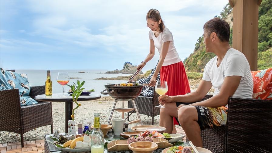 【夏旅セール】夏だ!海を見ながら【BBQプラン♪】国産牛・八鹿豚・カニ!