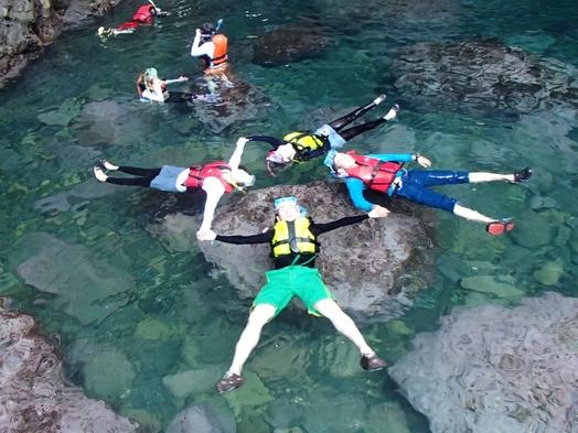 【カヌー&スノーケル+遊コース】★水中でたくさんの生き物に出会えるかな?水上もスイスイ楽しんじゃお♪