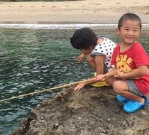 海の音ビーチで気軽に釣り体験♪