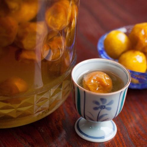 自家製の食前梅ジュースはお子様にも人気♪