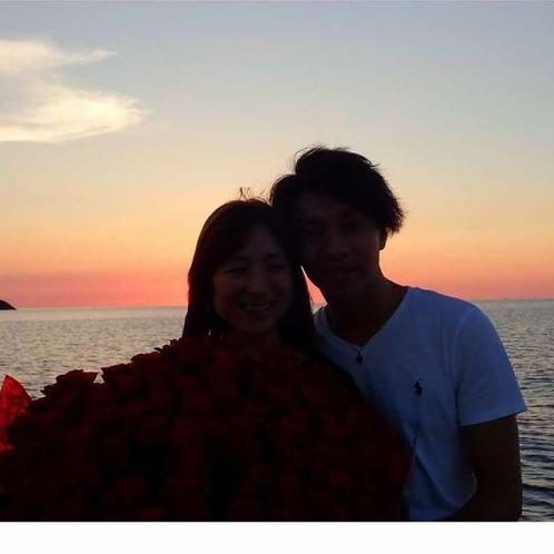 ロマンチックな【夕焼けクルーズ】。カップルやファミリーにおすすめ♪