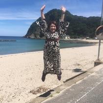 女将のジャンプ力は竹野イチ!